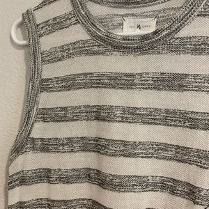 Wide strap striped tank top.